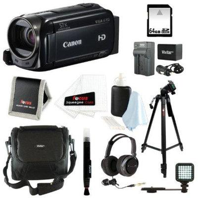 Canon VIXIA HF R52 HD Camcorder + 64GB Deluxe Accessory Kit