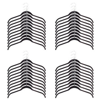 Joy Mangano Huggable Hangers 40-Pc. Shirt Hangers - Black