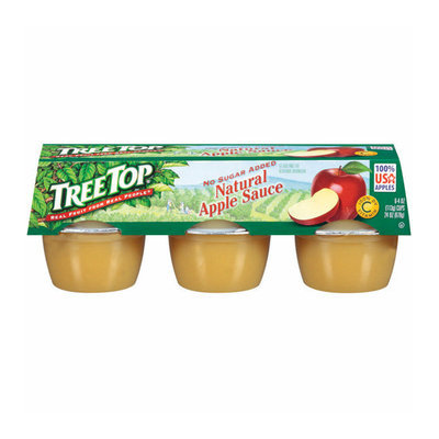 Tree Top Natural No Sugar Added 4 Oz Apple Sauce