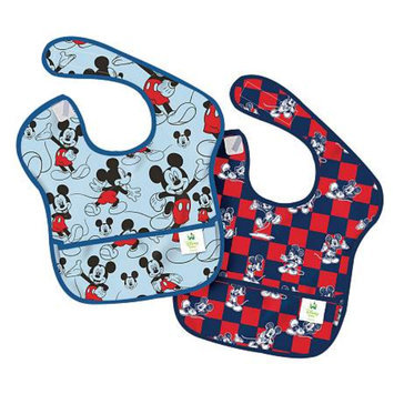 Bumkins Disney Baby Mickey Mouse 2pk Waterproof SuperBib Baby Bib Set