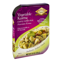 Patak's Vegetable Korma Curry with Rice Authentic Indian Meals