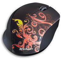 Verbatim 97782 Wireless Optical Design Mouse, Burnt Orange