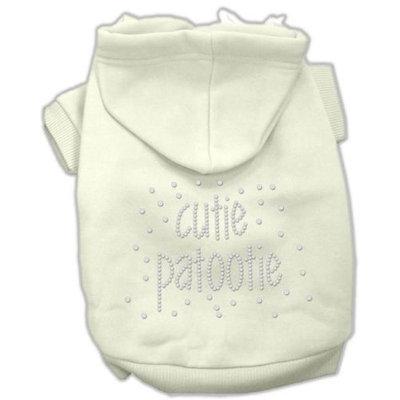 Mirage Pet Products 5424 MDCR Cutie Patootie Rhinestone Hoodies Cream M 12