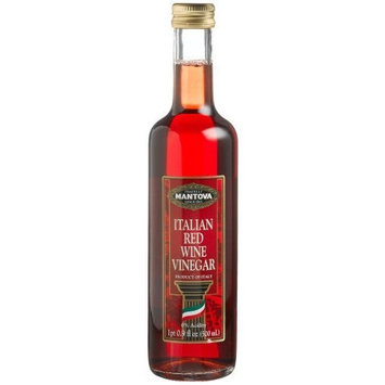 Mantova Italian Red Wine Vinegar, 17-Ounce Bottles (Pack of 4)