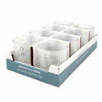 Ckk Industrial Ltd Essential Home Votive Cup Frosted Glass Love - CKK INDUSTRIAL LTD