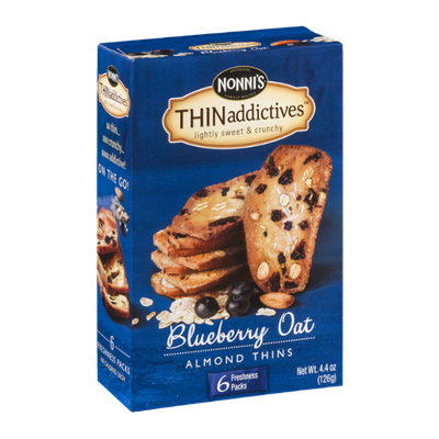 Nonni's THINaddictives Almond Thins Blueberry Oat - 6 PK