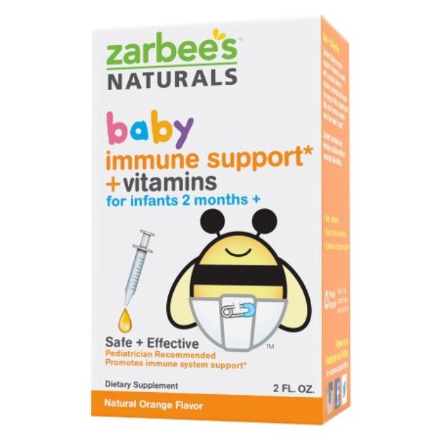 Zarbee's Naturals Baby Immune Support + Vitamins Orange Drops - 2.0 oz