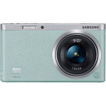 Samsung NX Mini Smart Wi-Fi Digital Camera with 9-27mm Lens & Flash (Mint Green)