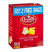 Orville Redenbacher's Gourmet Popping Corn Movie Theater Butter Mini Bags - 12 CT