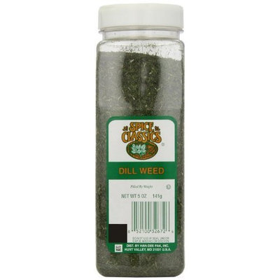 Spice Classics Dill Weed, 5-Ounce Plastic Bottles (Pack of 6)