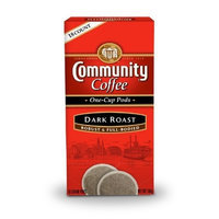 Community Coffee 16215 Dark Roast Single Cup Coffee Pods, 18-count