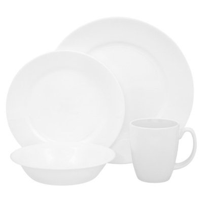 Corelle 16 Piece Dinnerware Set - Dazzling White