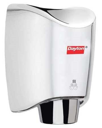 DAYTON 6PGK6 Hand Dryer, Chrome,10 sec,10 Amps,100 CFM