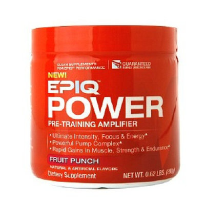 Muscletech EPIQ Power Pre-Training Amplifier, Fruit Punch, .62 lbs