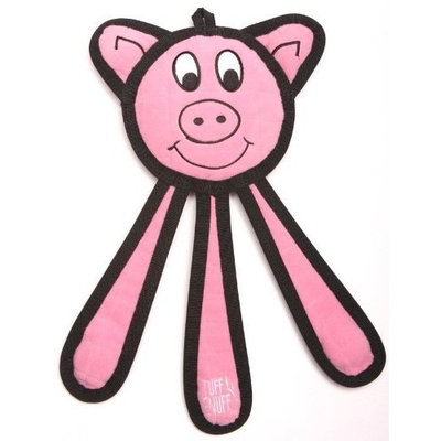 Tuff Enuff Dangles 10-Inch Pig Toy for Dogs, Small, Pink