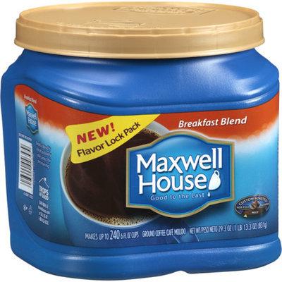 Maxwell House Ground Coffee, Breakfast Blend, 29.3 oz