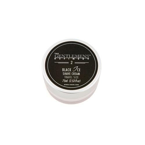 The Gentlemens Refinery 'Black Ice' Shave Cream (75ml) TSA Travel Size All-Natural and Organic