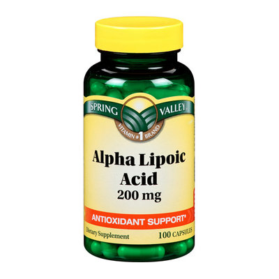 Spring Valley Dietary Supplement Alpha Lipoic Acid 100 ct