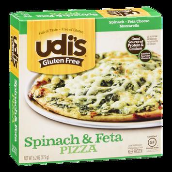Udi's Gluten Free Spinach & Feta Pizza