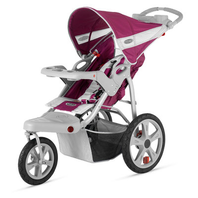Instep Safari Single Jog Stroller - Wine & Gray