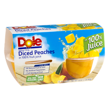 Dole Diced Peaches - 4 CT