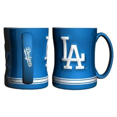 Boelter Brands MLB Dodgers Set of 2 Relief Coffee Mug - 14oz
