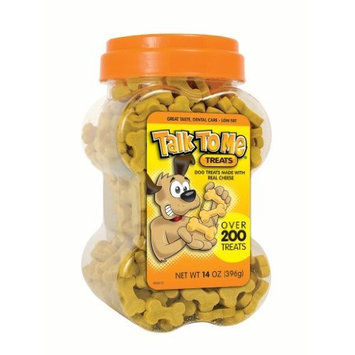 Talk To Me Select Dental Treats for Dogs, Cheese Flavored, 14-Ounce Canister