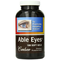 Carlson Labs Able Eyes, To Promote Healthy Vision, 180 Softgels