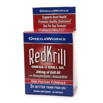 OmegaWorks RedKrill Omega-3 Krill Oil 300 mg