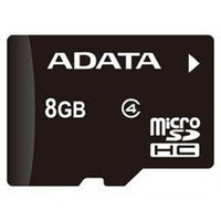 Adata Technology AUSDH8GCL4-RA1 Flash Memory Card - 8GB - Flash Memory - 2.7-3.6 V - Speed [read] 10-14 [mb/s