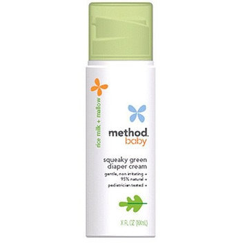 method baby squeaky green diaper cream
