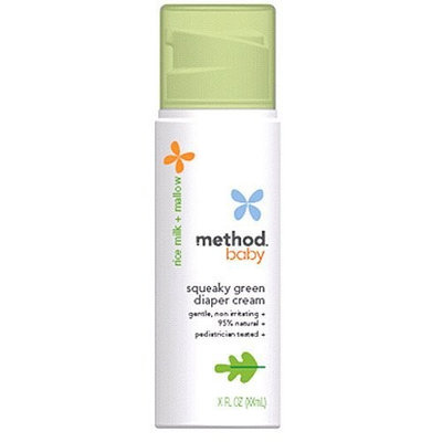 METHOD BABY SQUEAKY GREEN DIAPER CREAM Health and Beauty