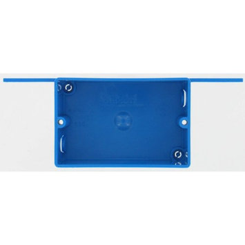 Lamson & Sessions Carlon Lamson and Sessons B108B-UPC Single Gang Shallow Switch and Outlet Box With Bracket Blue