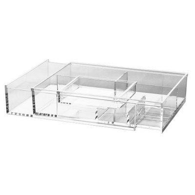 US Acrylic® Large Expandable Acrylic Organizer