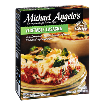 Michael Angelo's Vegetable Lasagna Frozen Entree