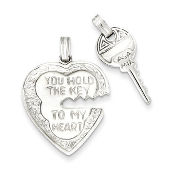 Recaro North goldia Sterling Silver Heart and Key Charms