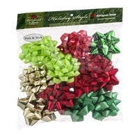 Hollywood Ribbon Holiday Style Designer Bows - 12 CT