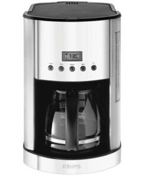 Krups 12-Cup Glass, Breakfast Set Coffee Maker - Stainless Steel