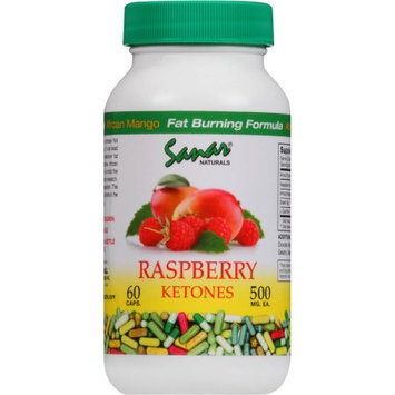 Raspberry Ketones by Sanar Naturals with African Mango 60 Caps