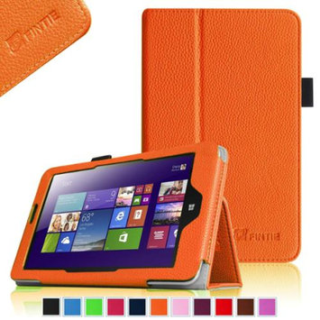 Fintie Lenovo IdeaTab Miix 2 8 Tablet Windows 8.1 Folio Case Cover - Premium Leather With Stylus Holder, Orange
