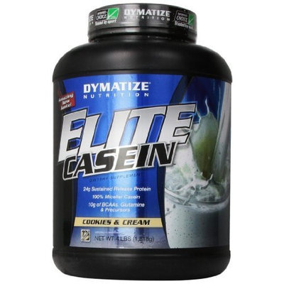 Dymatize Nutrition Dymatize Elite Casein, Cookies and Cream, 4 Pound