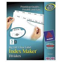 Avery 11 x 8-1/2 Big Tab Index Maker Label Dividers