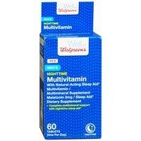 Walgreens Men's Nighttime Multivitamin + Sleep Aid, Tablets, 60 ea