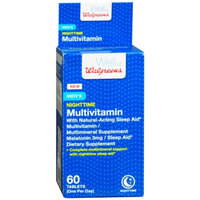 Walgreens Men's Nighttime Multivitamin + Sleep Aid, Tablets, 60 ea