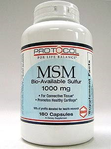 MSM 1000 mg 180 caps by Protocol For Life Balance