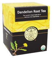 Buddha Teas Dandelion Root 100 Percent Organic Herbal Tea 18 Bags Per Packet