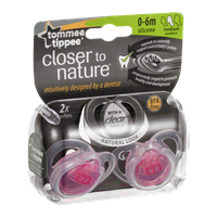 Tommee Tippee Closer to Nature Silicone Pacifiers 0-6M Medium - 2 CT
