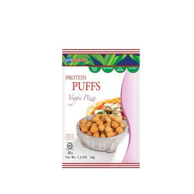 Kay's Naturals Protein Puffs, Veggie Pizza, 1.2 ounces (Pack of 6)