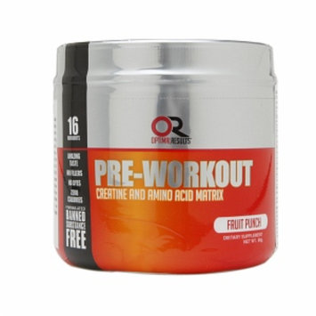 Optimal Results Pre-Workout Creatine & Amino Acid Matrix, Fruit Punch, 80 g