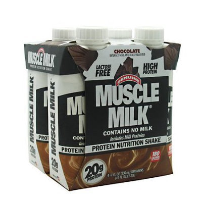CytoSport Muscle Milk RTD Chocolate - [12 - 11 fl oz (330 ml) shakes]